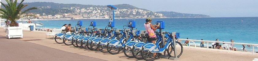 Vélo Blue, fiets huren, Zuid Frankrijk, cote dazur, nice, cagnes sur mer, fietsen, uitstapje, blauwe fiets, registreren, uitleg