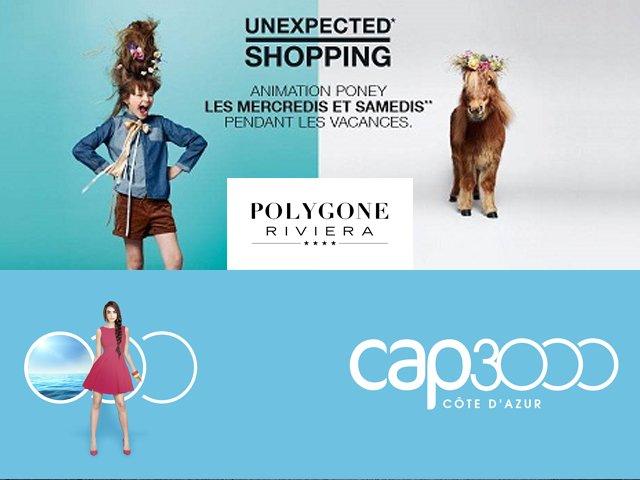 Shopping Cote Azur: Polygone Riviera versus CAP 3000
