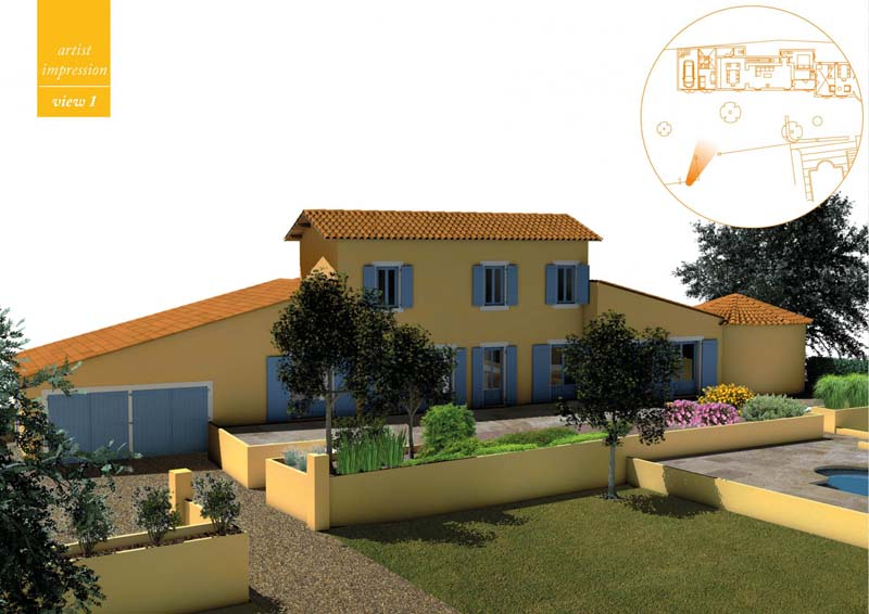 The total bastide area of 160 more square meters are spread over an entrance hall, a large living room, four bedrooms, a study, three bathrooms.