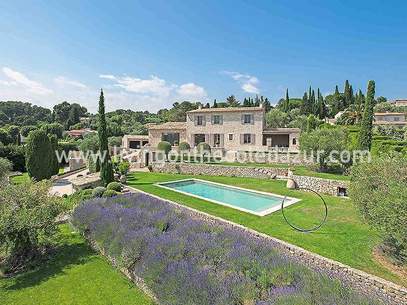 Renovated luxury stone villa Mougins with 7 bedrooms