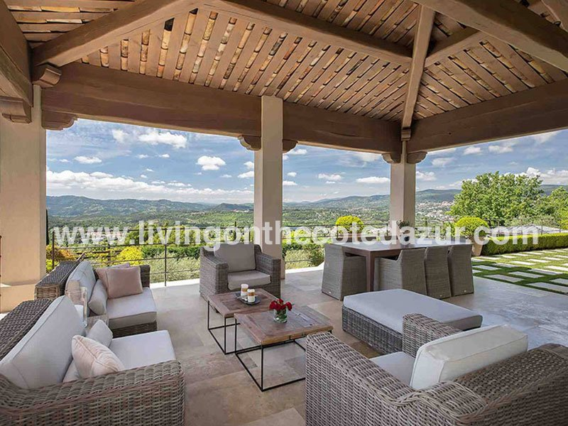 New bastide villa for sale, close to Mougins and Cannes French Riviera Côte d'Azur