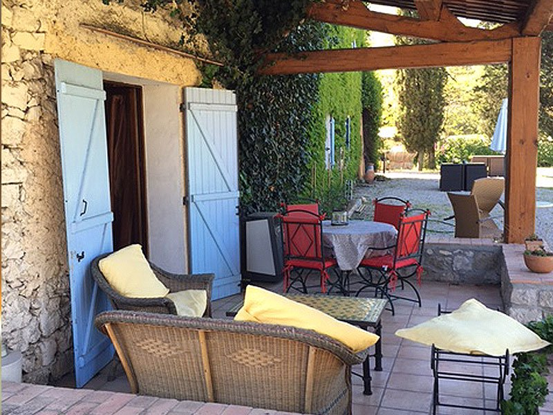 Provencal stone villa 17th century perfect for hotel restaurant Roquefort les Pins Côte d'Azur French Riviera
