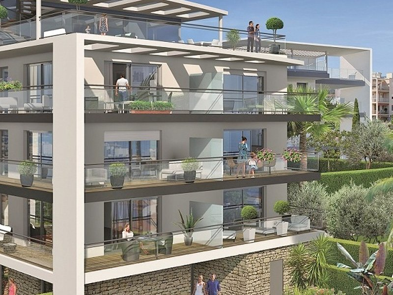 Antibes new apartments with a blue bay on your horizon