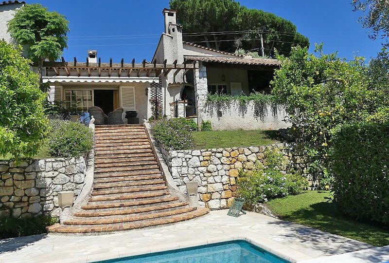 finest charming villa vence vosgelade with great view on