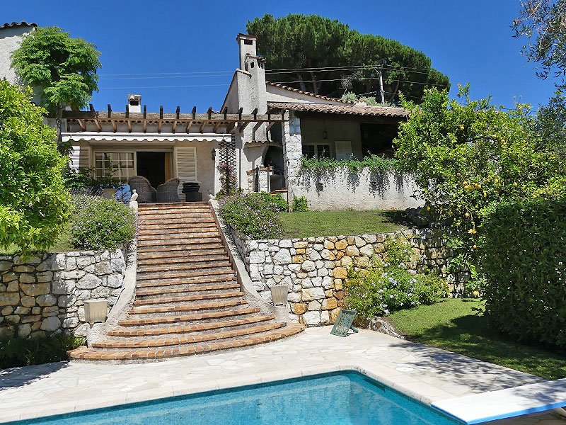 Charming villa Vence Vosgelade with great view on Saint Paul de Vence