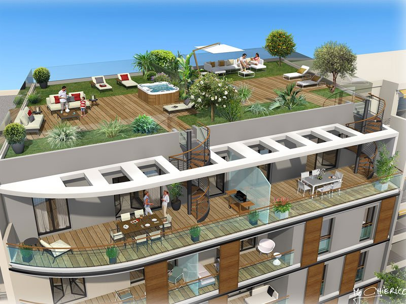 newly built apartments Antibes, close to Plage Salis