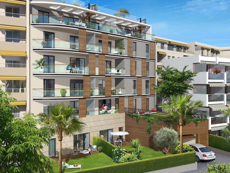 Penthouse mit Dachterrasse und Garten, nahe Strand und Cap d'Antibes