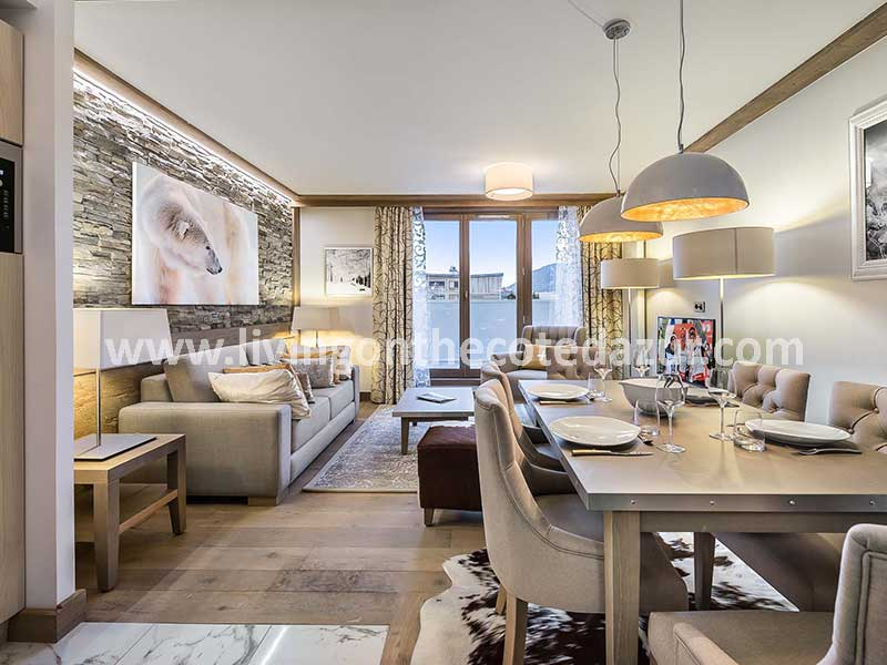 Luxury apartments for sale in downtown Courchevel