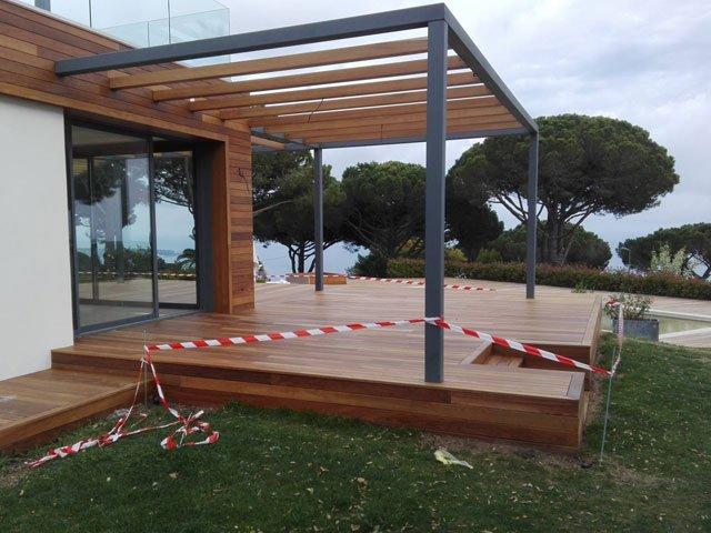 renovation teak deck terrace extension France renovation