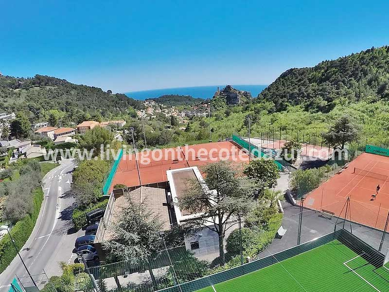 New construction apartment Eze with pool and sea views