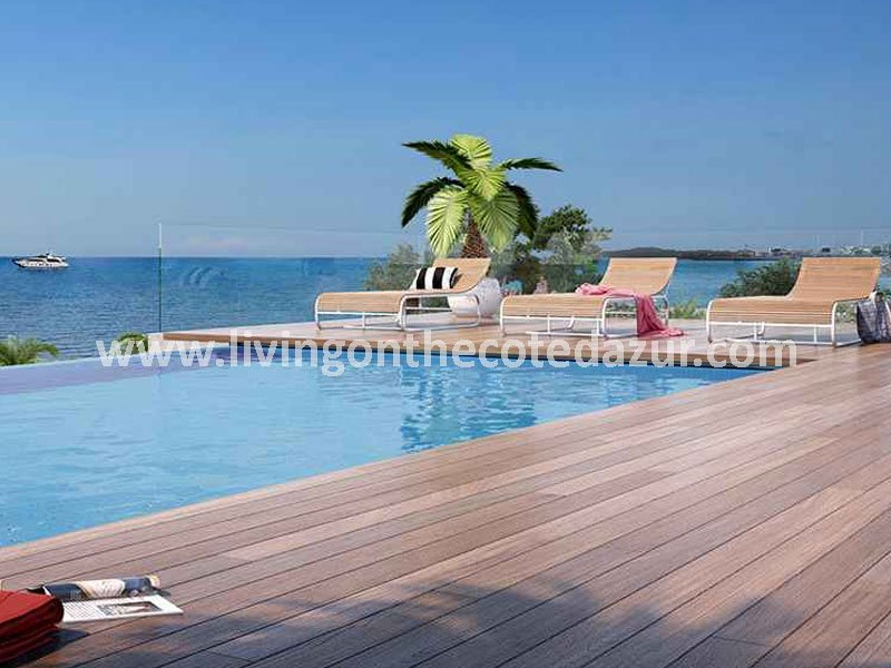 New apartment directly on the seafront Villeneuve Loubet