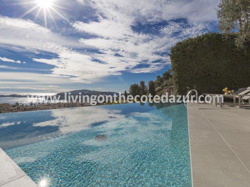 Modern villa Beaulieu sur Mer with endless sea views