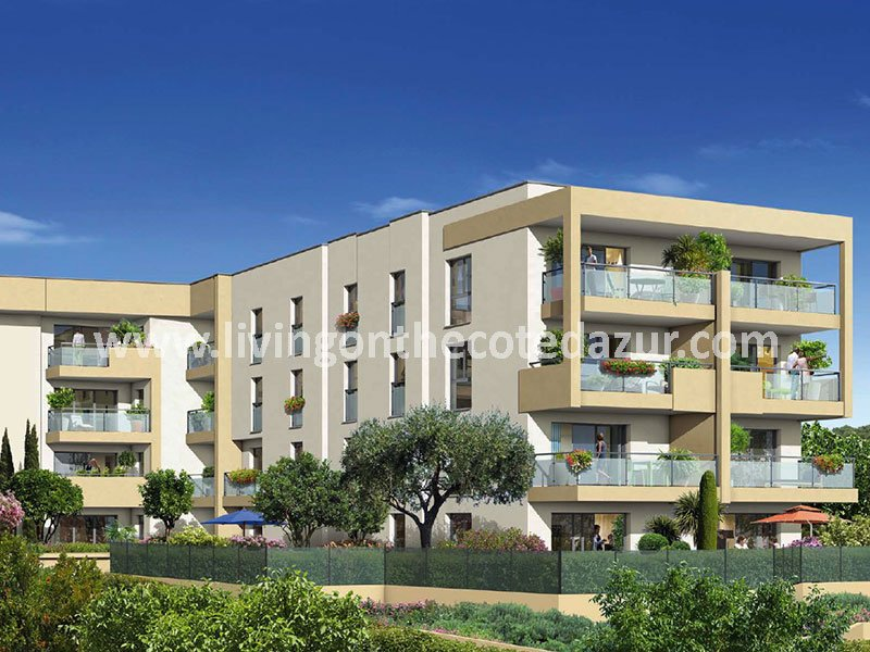 Buy new apartment Antibes with sea view in popular district