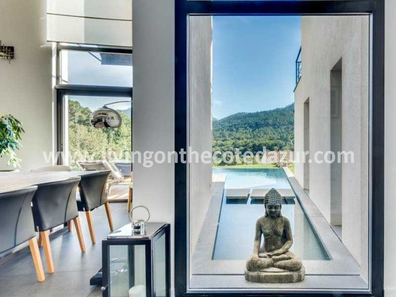 Serenity, space, and design: beautiful contemporary villa Les Adrets