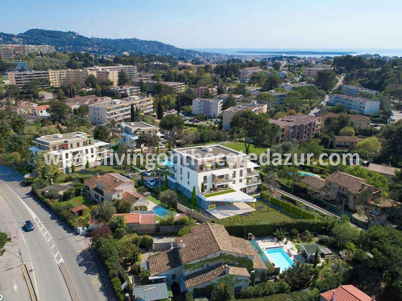 Modern new apartments in the hills of Cannes