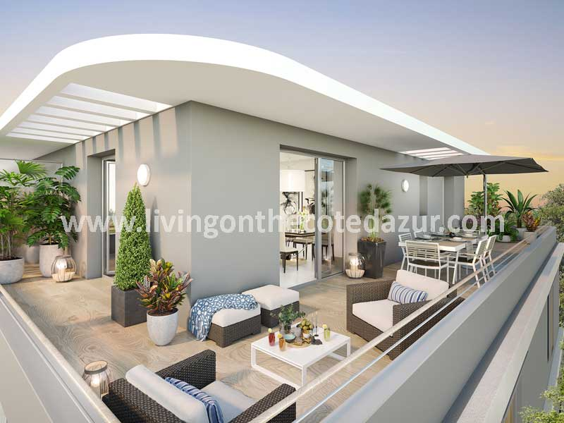 Top class new apartment Mougins with swimming pool