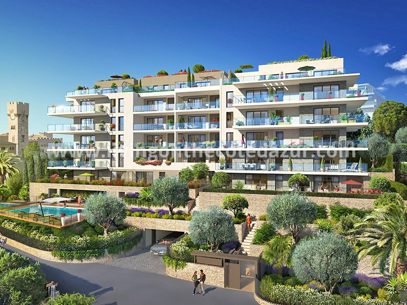 Splendid new apartment: pool, seaview, 800 meters from Prom des Anglais