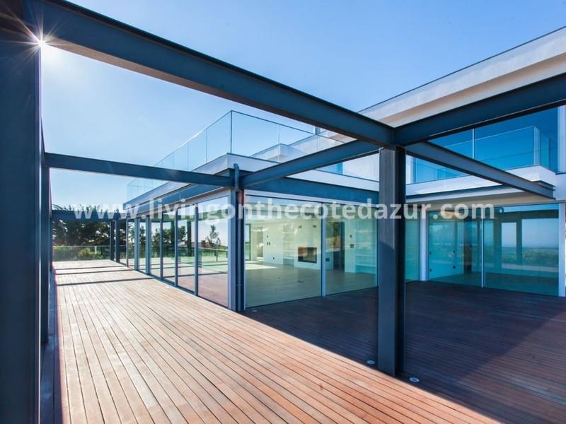Cascais exclusive modern villa in private condominium with sea view