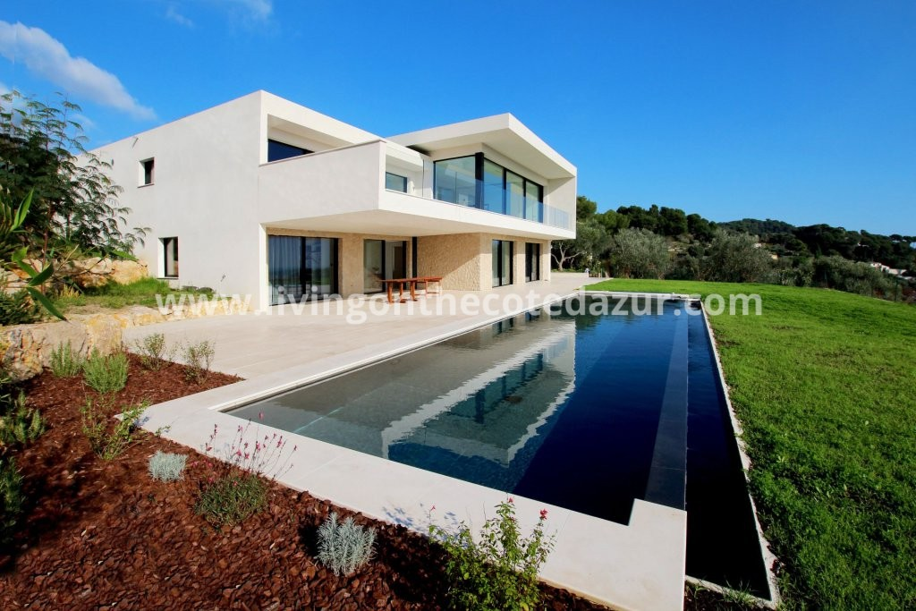 Super Cannes spectacular architect villa with panoramic sea view