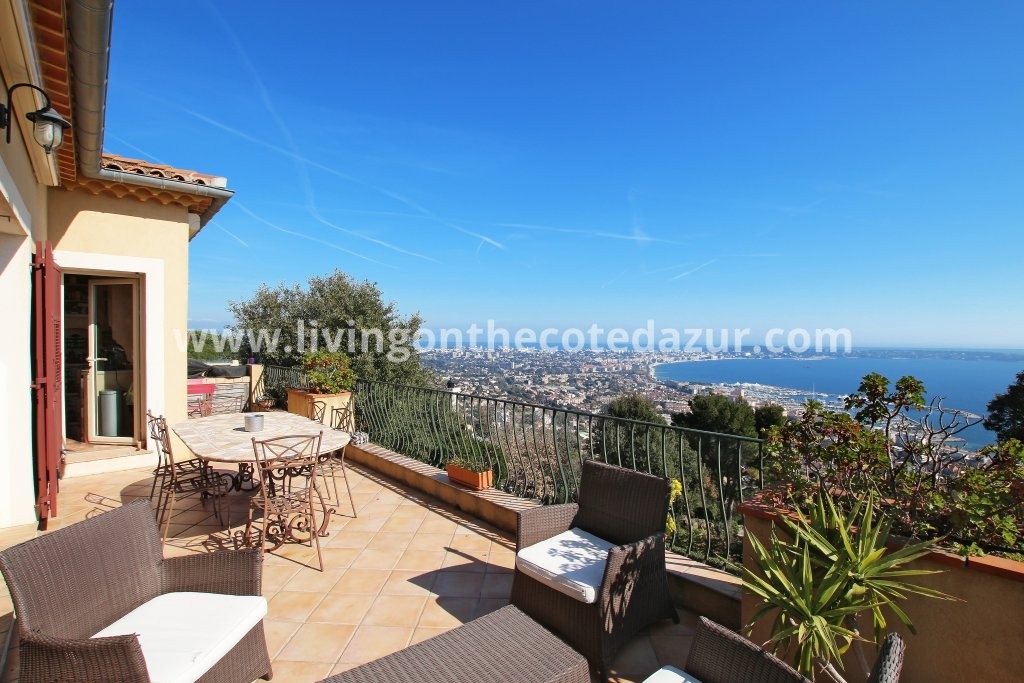 Super Cannes lovely villa with stunning sea view