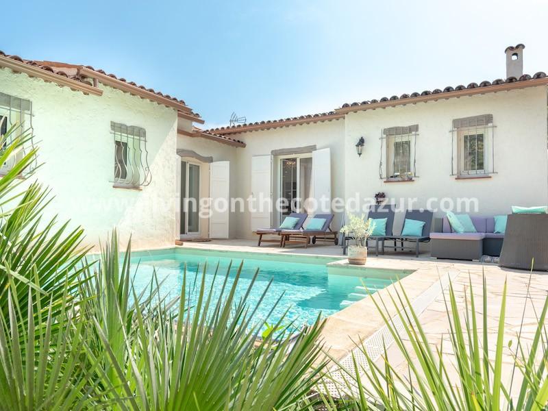 Saint Paul de Vence villa with swimming pool and studio under a million