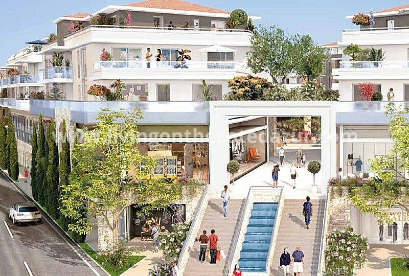 Kaufen Sie eine Wohnung im neuen und funkelnden Stadtzentrum von Mougins