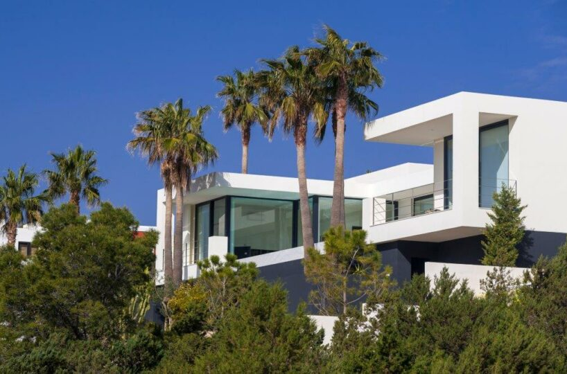 Contemporary villa by Bernard Schalck- Cala Carbo, Ibiza