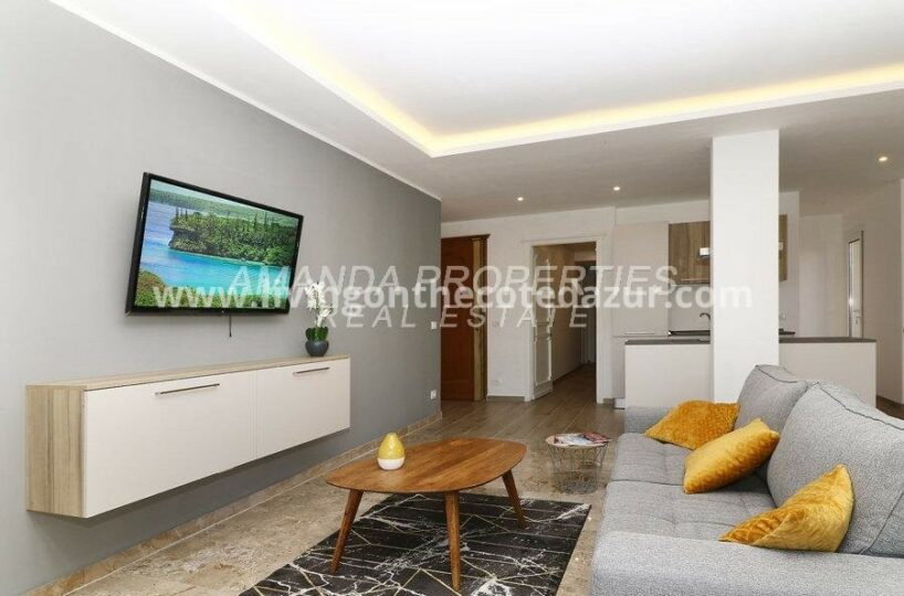 Super 3 bed apartment with sea view at 500 meters from Cannes beach