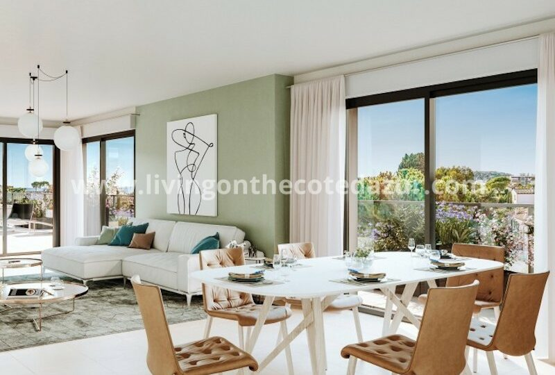Newly built apartment Cros de Cagnes sur Mer, beach at 400 meters