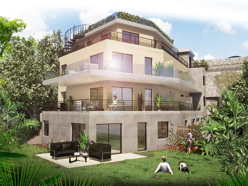 Intimate new apartment above Eze village