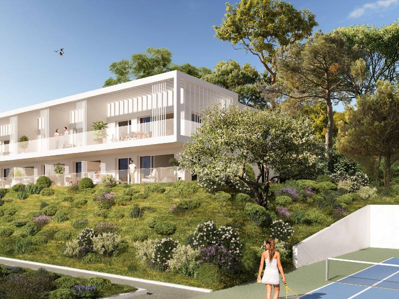 Nice Cimiez contemporary style apartment with tennis, pool seaview