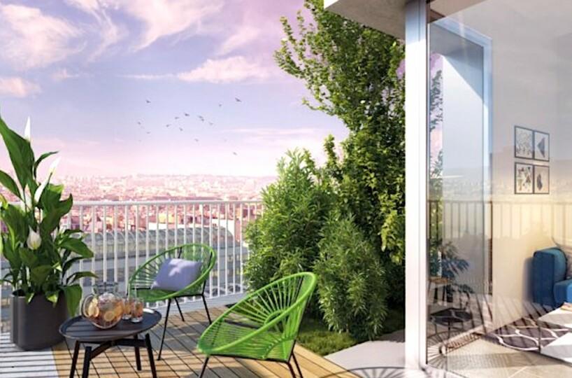 Ecological new construction Paris Rive Gauche, next to the Seine